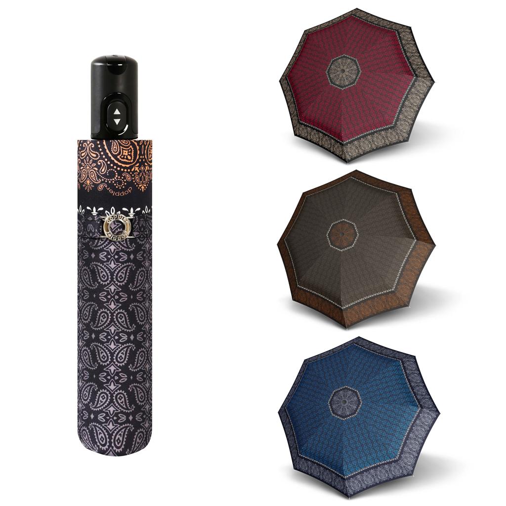 Doppler Magic Carbonsteel VICTORIA - dámský skládací plně automatický deštník hnědá