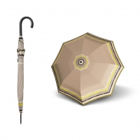 Doppler Long AC Fiber RAJA - dámský holový deštník béžová
