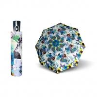 Doppler Magic Fiber PRIMA VERA - dámský skládací plně automatický deštník modrá