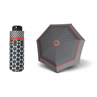 Doppler Mini XS Carbonsteel RIVERA - dámský skládací deštník černá