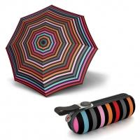 Knirps X1 STRIPES Fuchsia - dámský skládací mini deštník
