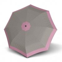 Doppler Magic Fiber STYLE 23 - dámský skládací plně automatický deštník béžový s tečkami