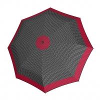 Doppler Magic Fiber STYLE 23 - dámský skládací plně automatický deštník černý s tečkami