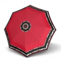 Doppler Magic Fiber STYLE 23 - dámský skládací plně automatický deštník červený s bordurou
