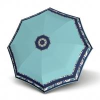 Doppler Magic Fiber STYLE 23 - dámský skládací plně automatický deštník modrý s bordurou