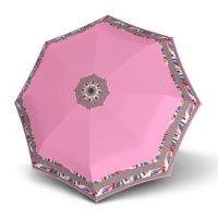 Doppler Magic Fiber STYLE 23 - dámský skládací plně automatický deštník růžový s bordurou