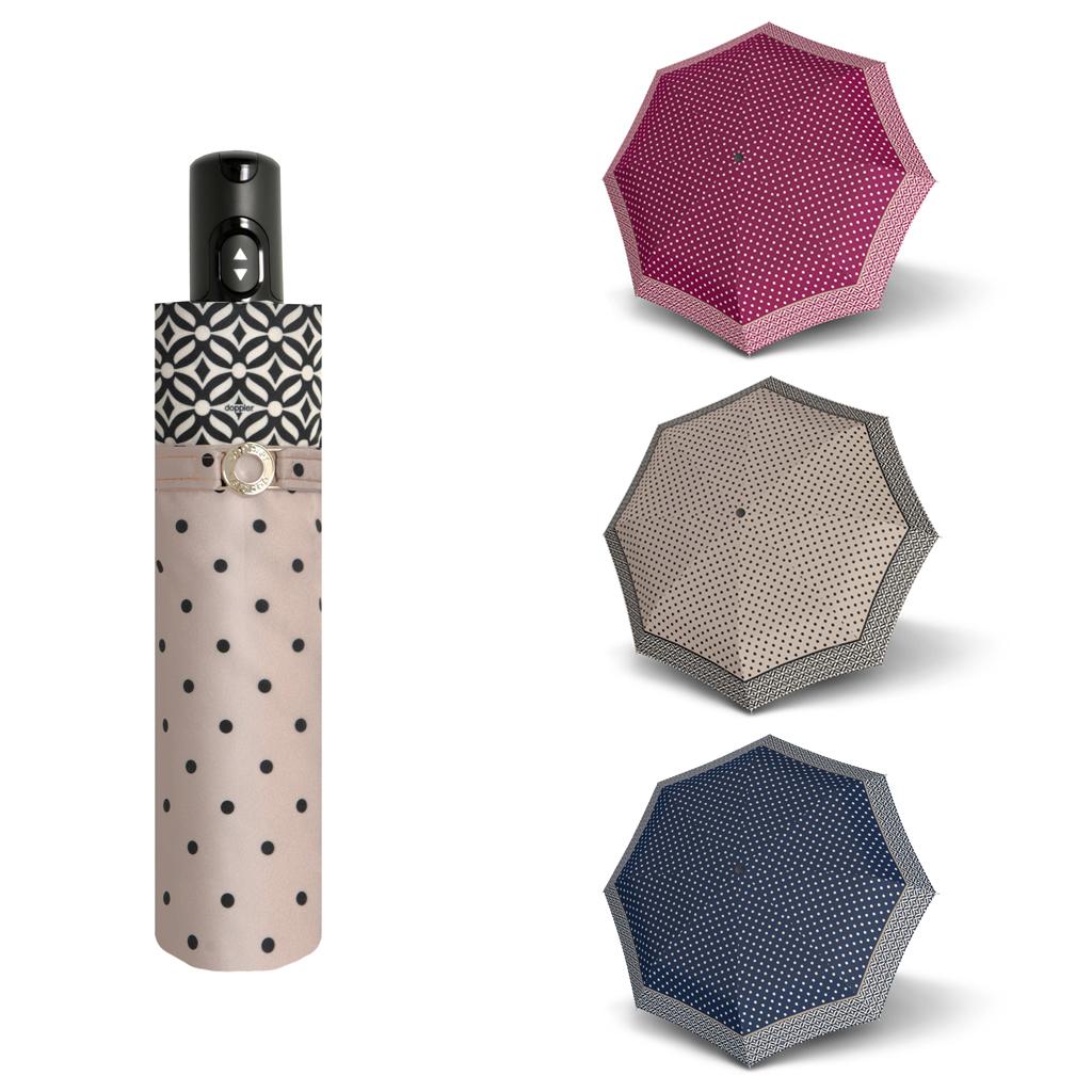 Doppler Magic Carbonsteel NIZZA - dámský skládací plně automatický deštník modrá