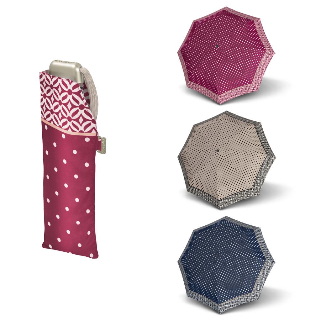 Doppler Mini Slim Carbonsteel NIZZA - dámský plochý skládací deštník modrá