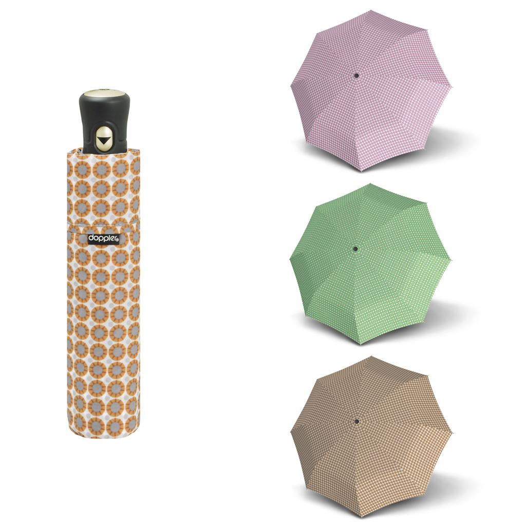 Doppler Havanna Fiber AC PALMA - dámský ultralehký mini deštník růžová