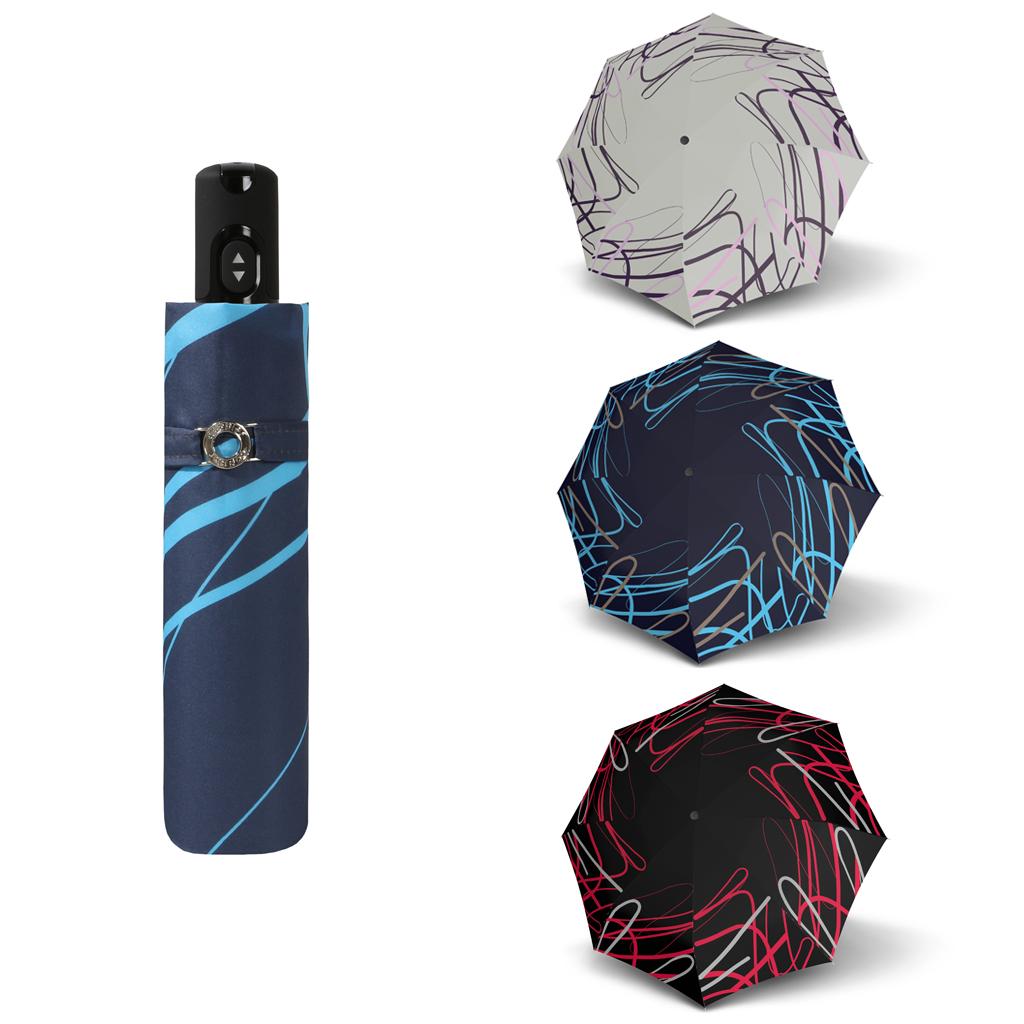 Doppler Magic Carbonsteel BREEZE - dámský skládací plně automatický deštník červená