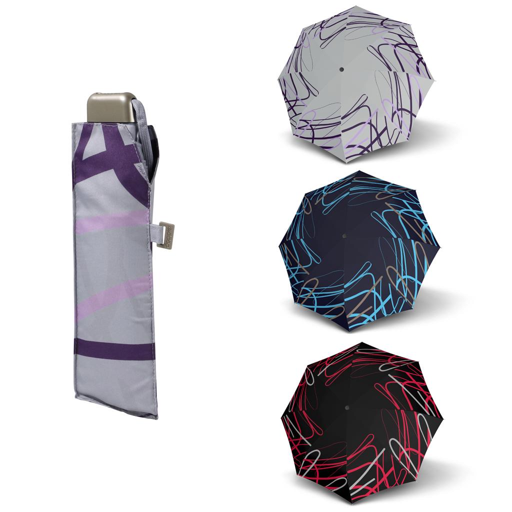 Doppler Mini Slim Carbonsteel BREEZE - dámský plochý skládací deštník modrá