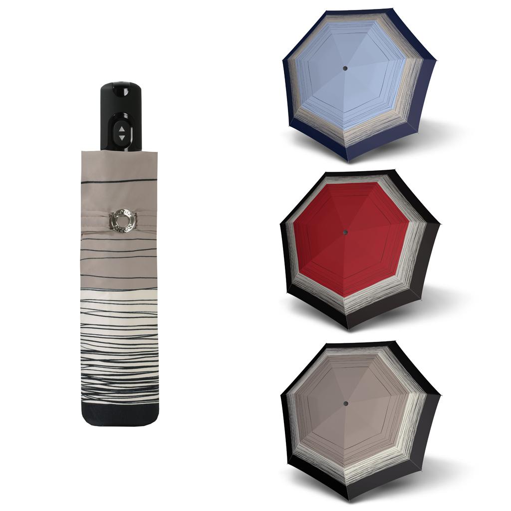 Doppler Magic Carbonsteel LINEE - dámský skládací plně automatický deštník béžová