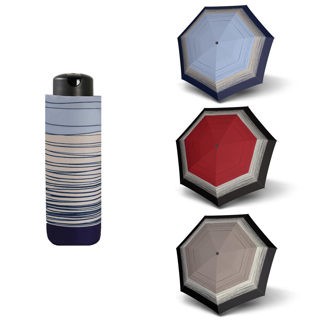 Doppler Mini XS Carbonsteel LINEE - dámský skládací deštník modrá