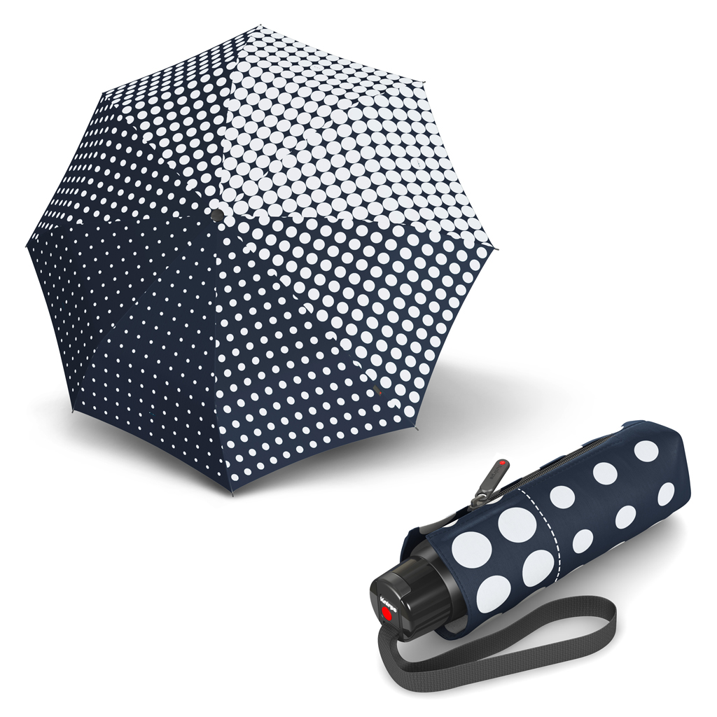 Knirps T.010 Small Manual Galateia Dark Navy - dámský skládací mini deštník