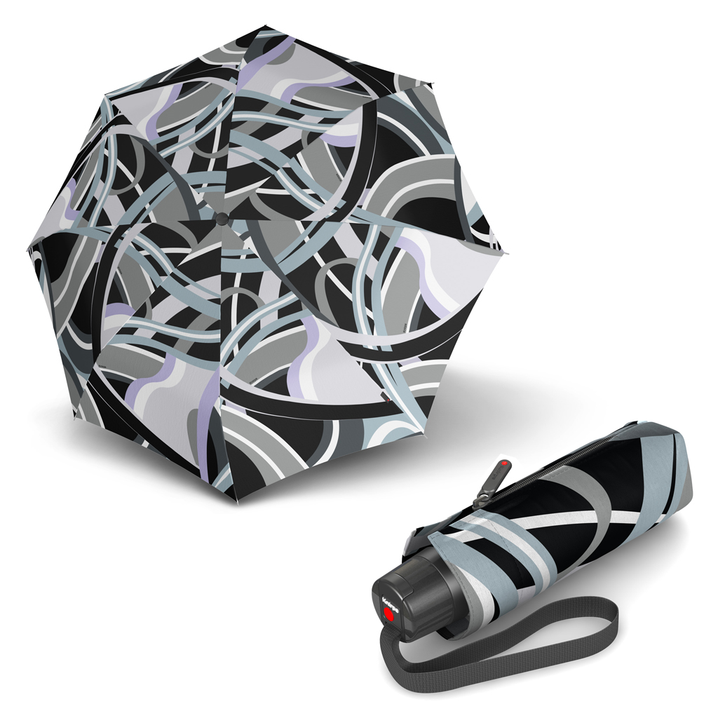 9ce11481ddb Knirps T.010 Small Manual Poseidon Black - dámský skládací mini deštník