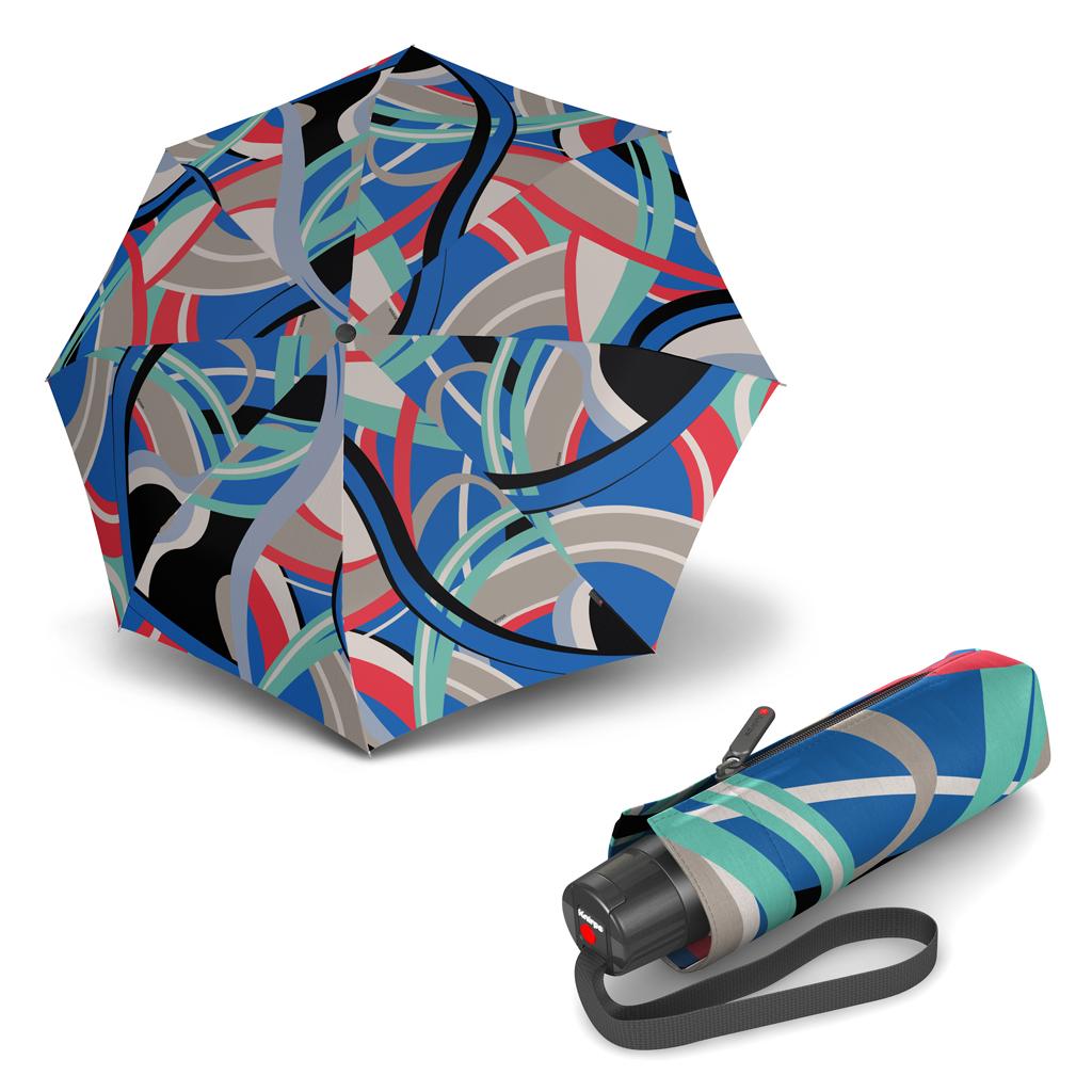 Knirps T.010 Small Manual Poseidon Blue - dámský skládací mini deštník