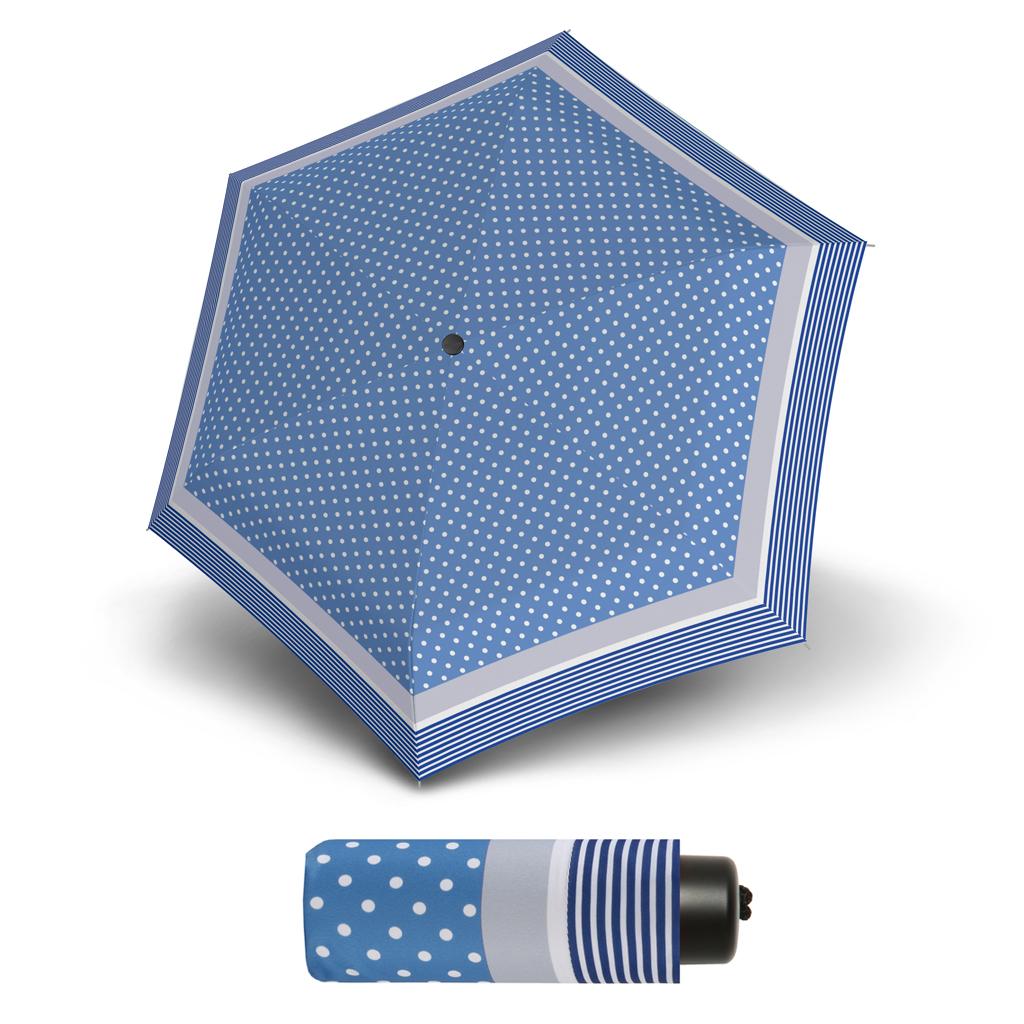 S.Oliver Dynamic SUMMER DOT modrý - dámský skládací mini deštník