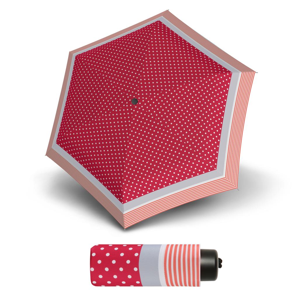 S.Oliver Dynamic SUMMER DOT růžový - dámský skládací mini deštník