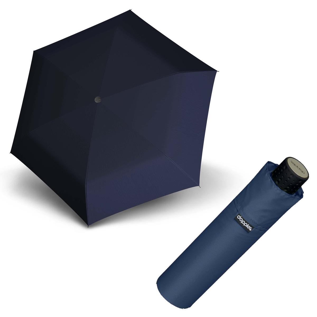 Doppler Havanna Fiber tmavě modrý - dámský ultralehký mini deštník