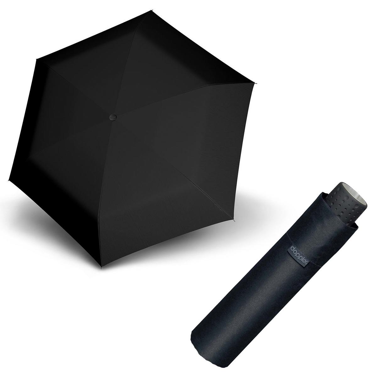 Doppler Havanna Fiber černý - dámský ultralehký mini deštník