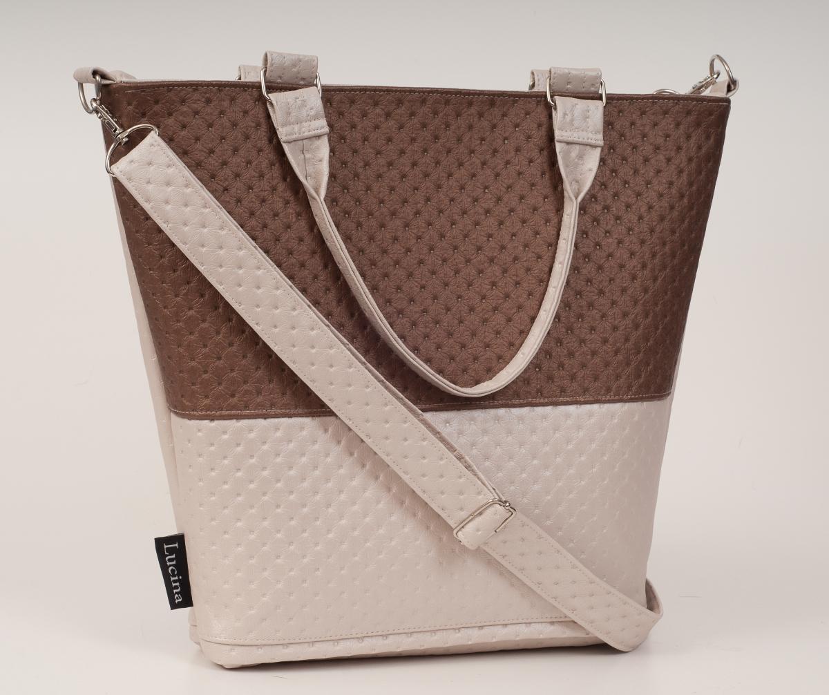 9eb435332f Dámská kabelka LUCINA Lux brown 2
