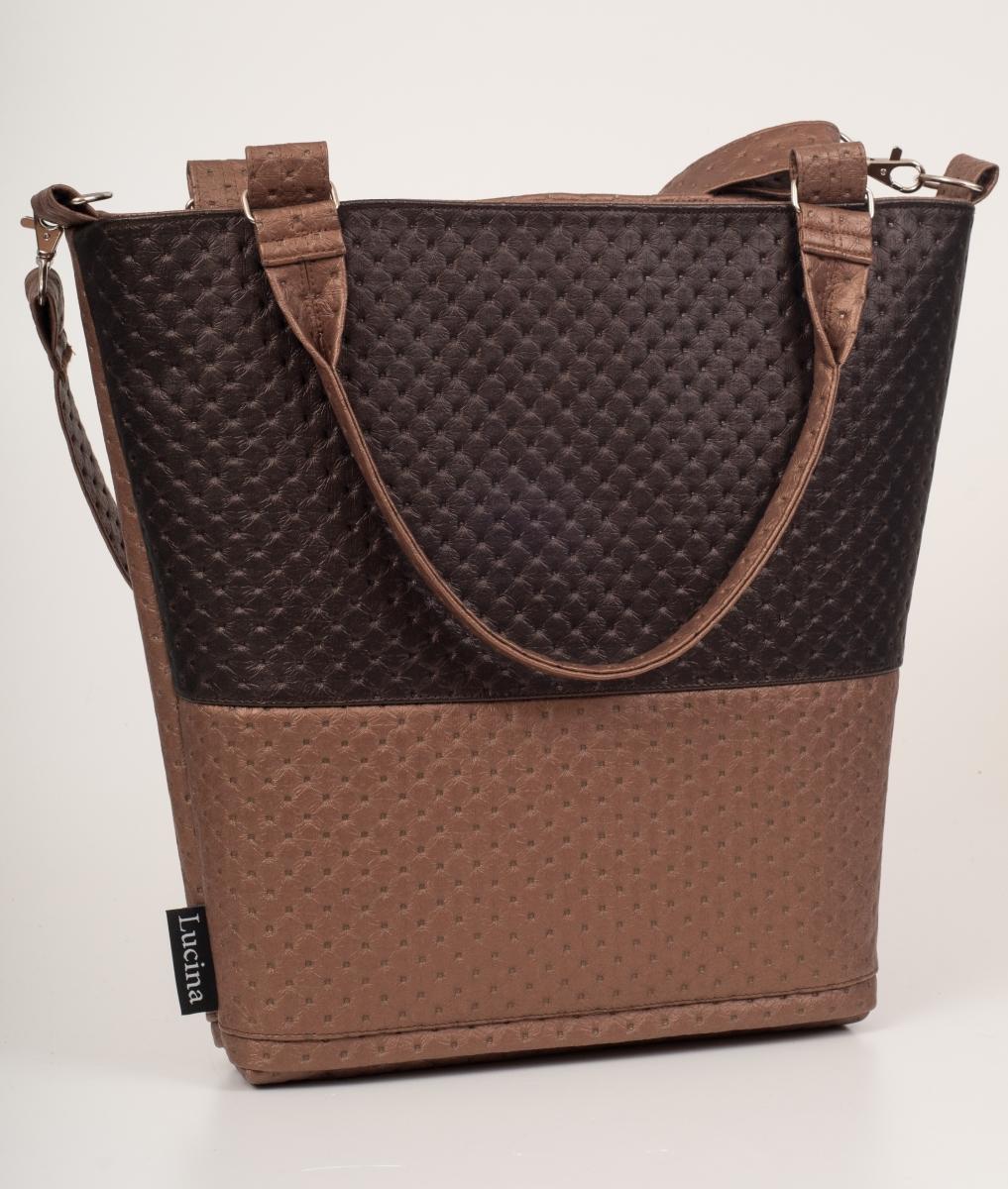16718729a8 Dámská kabelka LUCINA Lux brown 1