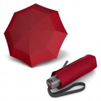 Knirps T.010 Small Manual tmavě červený - dámský skládací mini deštník s UV ochranou