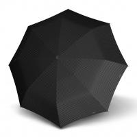 Doppler Mini Slim Carbonsteel CHIC - dámský plochý skládací deštník černá