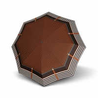 Doppler Mini Slim Carbonsteel LETIZIA - dámský plochý skládací deštník hnědá