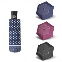 Doppler Magic Fiber XS TRICOLORE - dámský skládací plně automatický deštník vínová