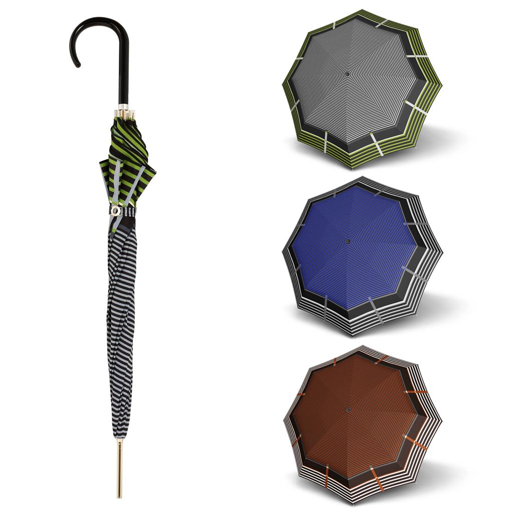 Doppler Long AC Carbonsteel LETIZIA - dámský holový deštník zelená