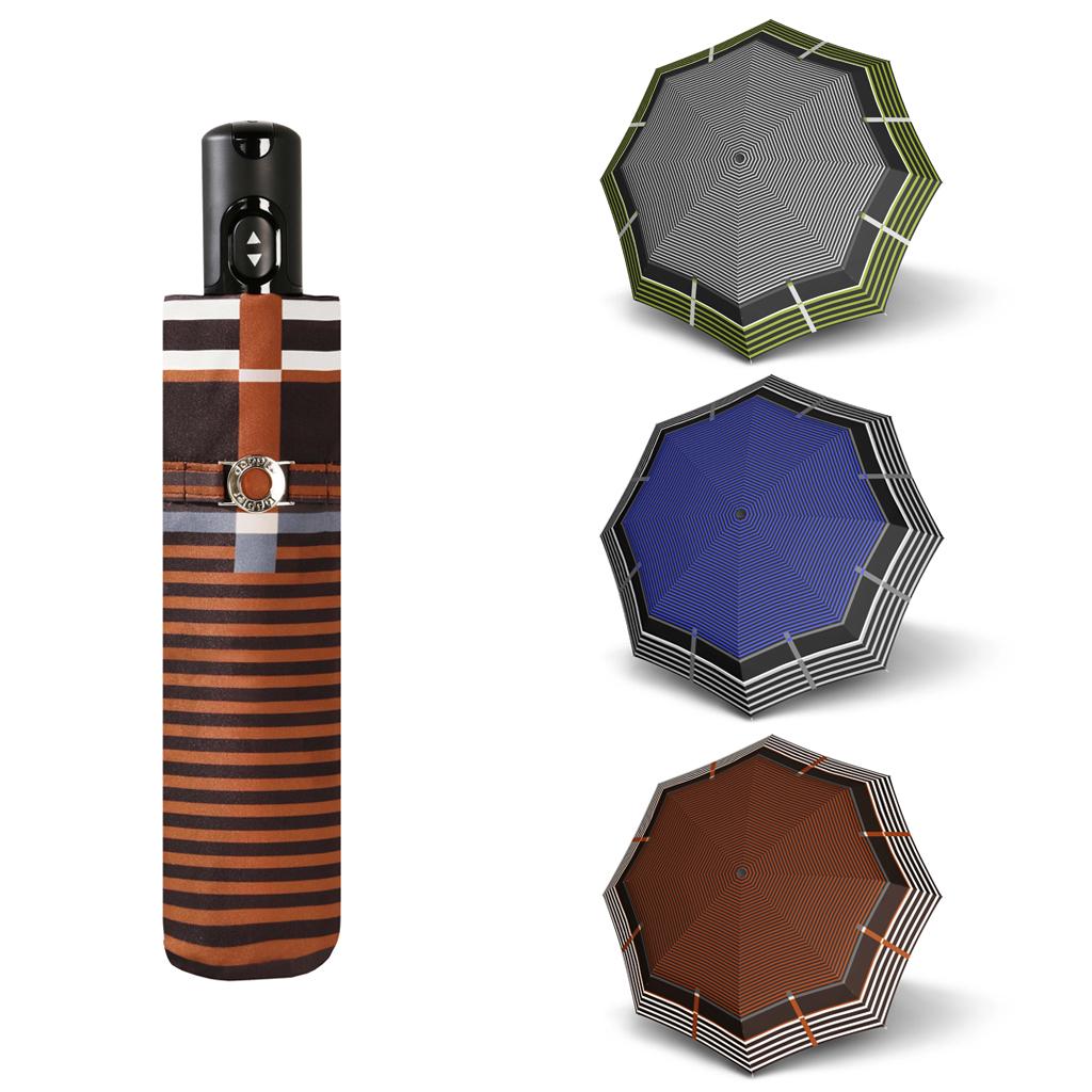 Doppler Magic Carbonsteel LETIZIA - dámský skládací plně automatický deštník hnědá