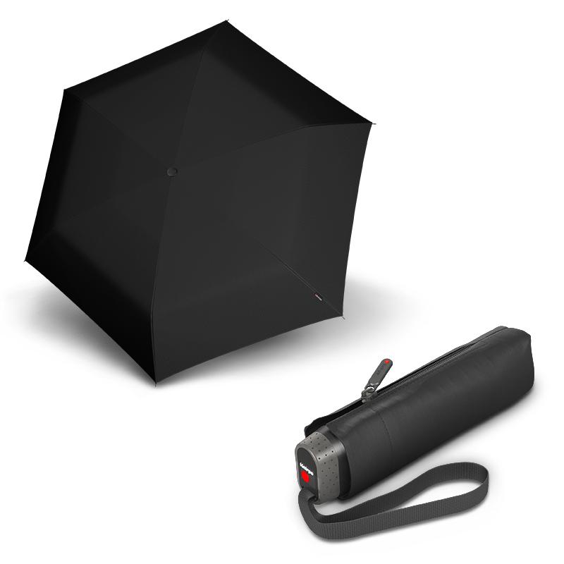 Knirps TS.010 Slim Small Black - dámský/pánský skládací mini deštník