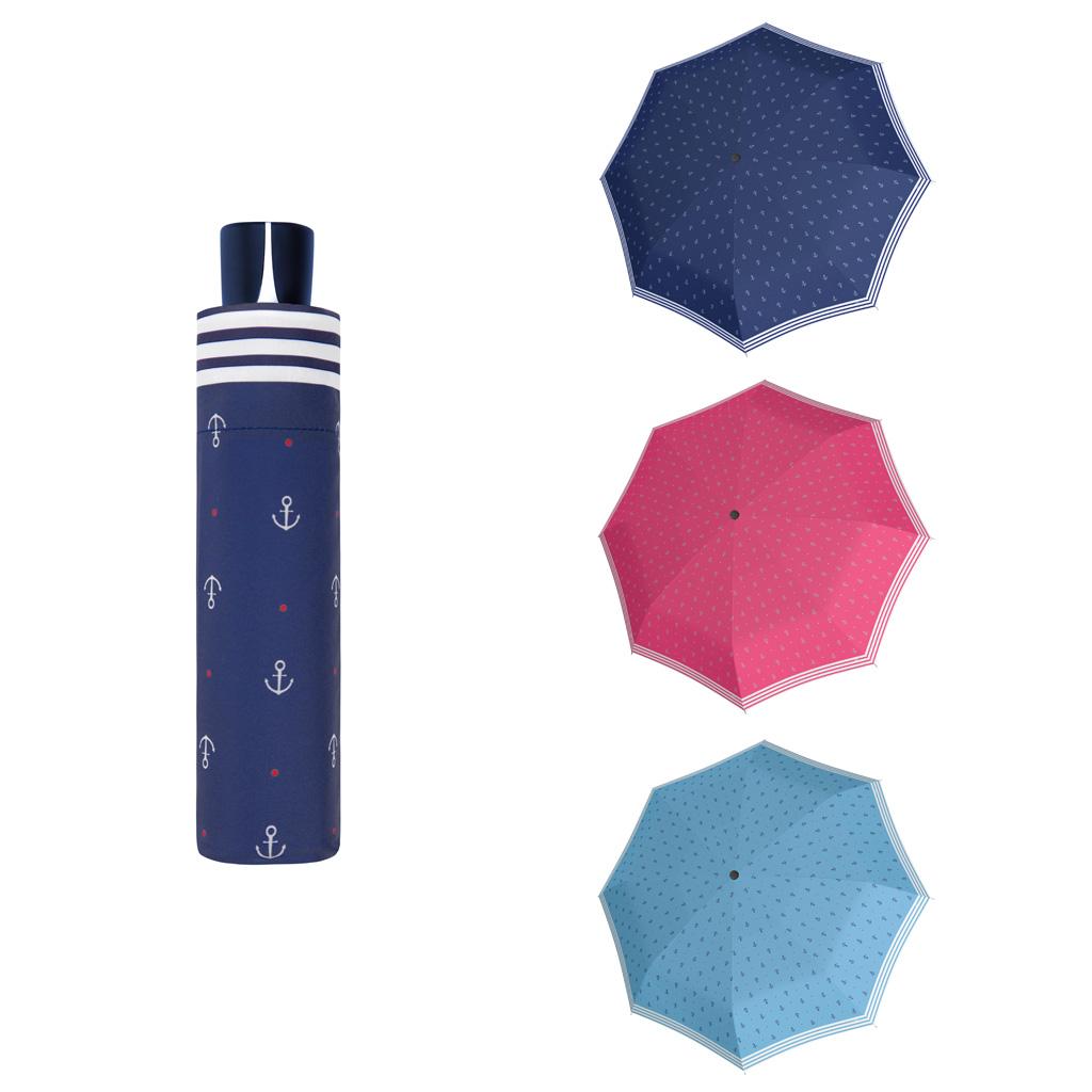 Doppler Mini Fiber SAILOR - dámský skládací mechanický deštník světle modrá