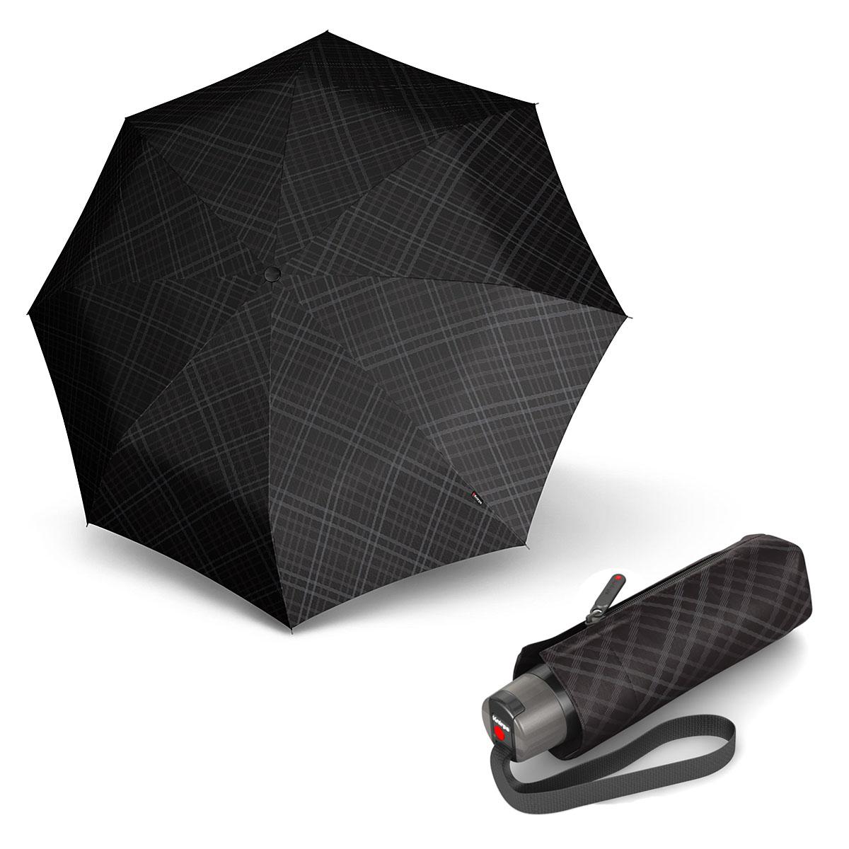 Knirps T.010 Small Manual Modern Black - pánský skládací mini deštník
