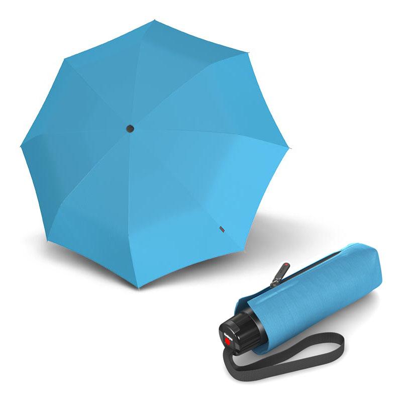 Knirps T.010 Small Manual Solids Sky - dámský skládací mini deštník s UV ochranou