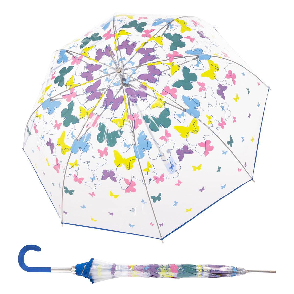 Doppler Lang Fiber AC Transparent Spring - dámský průhledný holový deštník