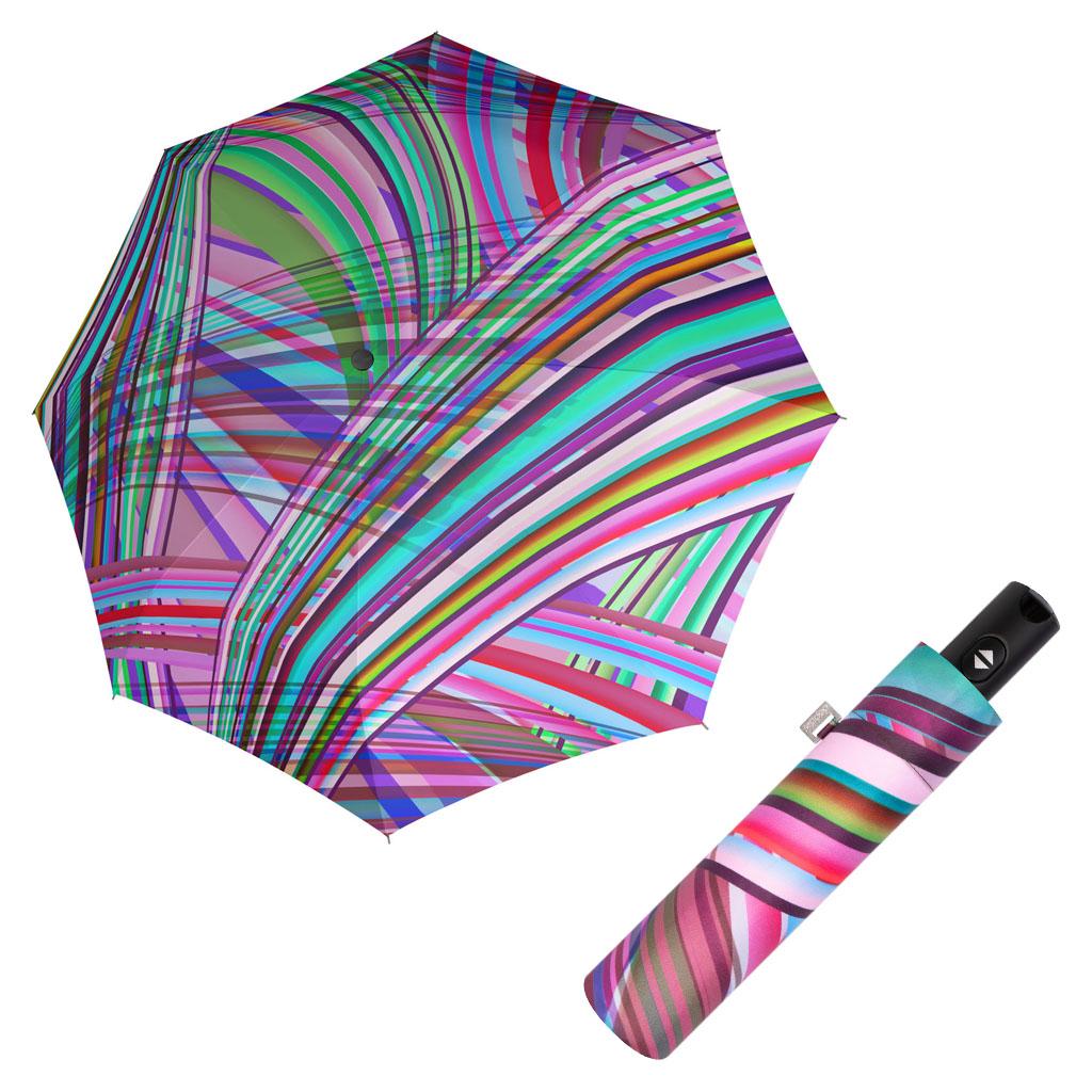 Doppler Magic Carbonsteel ILLUMINATION 01 - dámský skládací plně-automatický deštník modrá