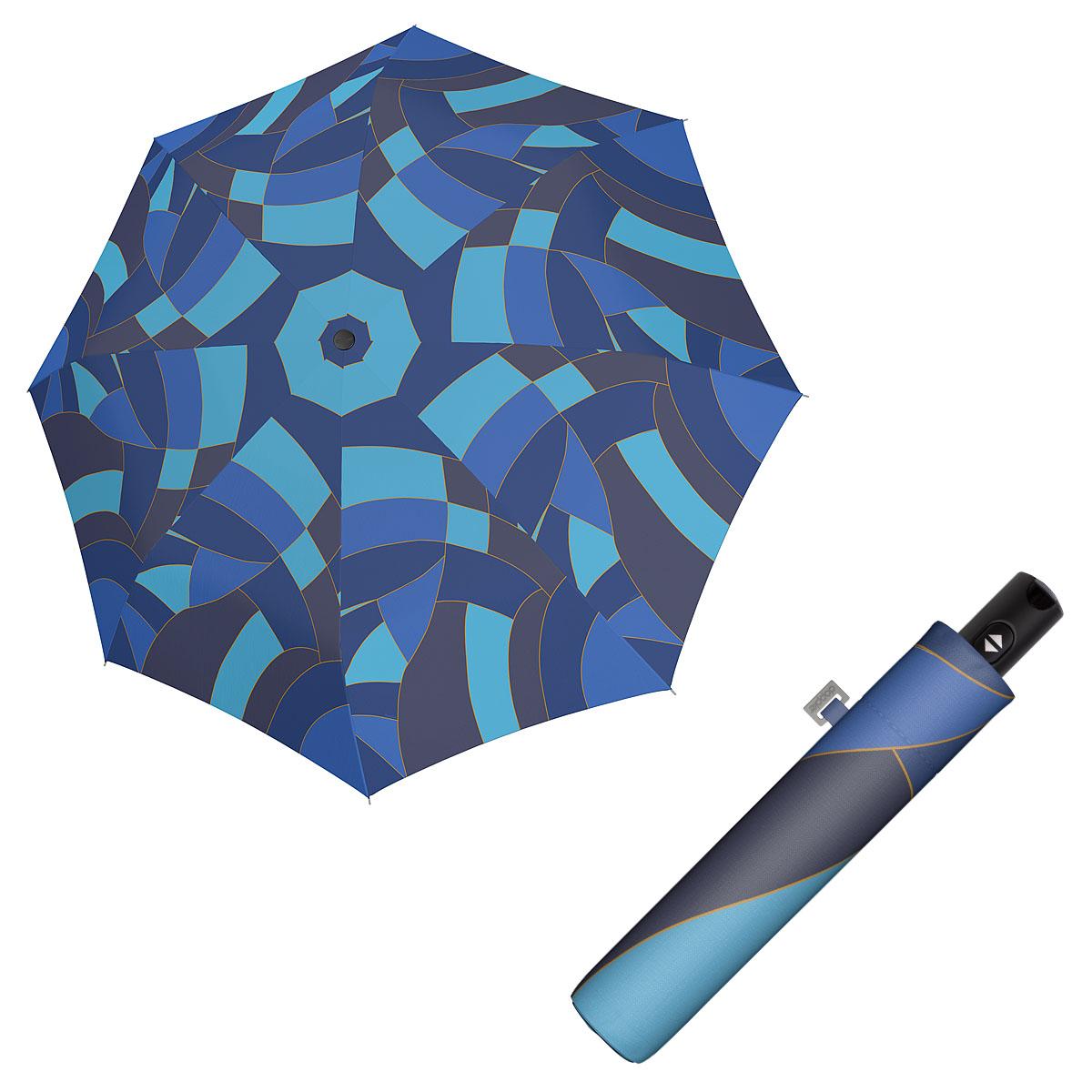 Doppler Magic Carbonsteel EUPHORIA - dámský plně automatický deštník modrá