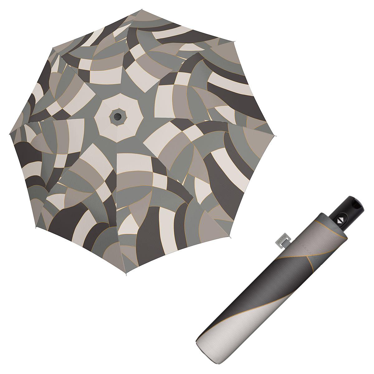Doppler Magic Carbonsteel EUPHORIA - dámský plně automatický deštník šedá