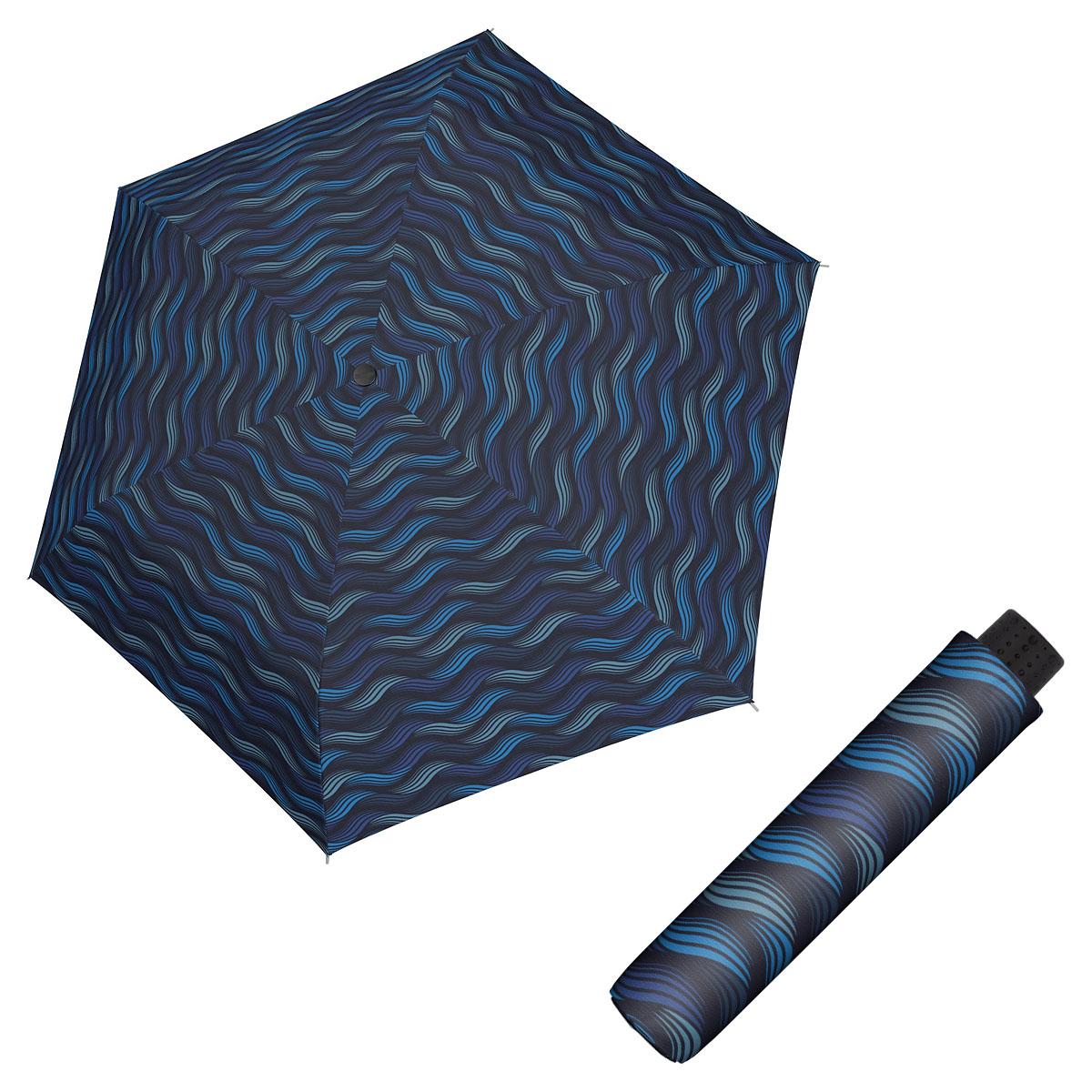 Doppler Havanna Fiber GRAVITY - dámský ultralehký mini deštník modrá