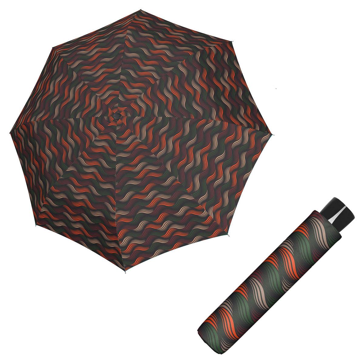 Doppler Mini Fiber GRAVITY - dámský skládací odlehčený deštník oranžová