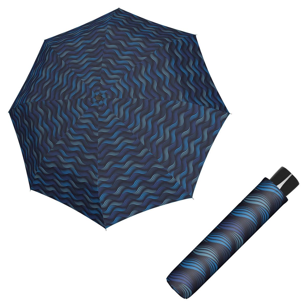 Doppler Mini Fiber GRAVITY - dámský skládací odlehčený deštník modrá