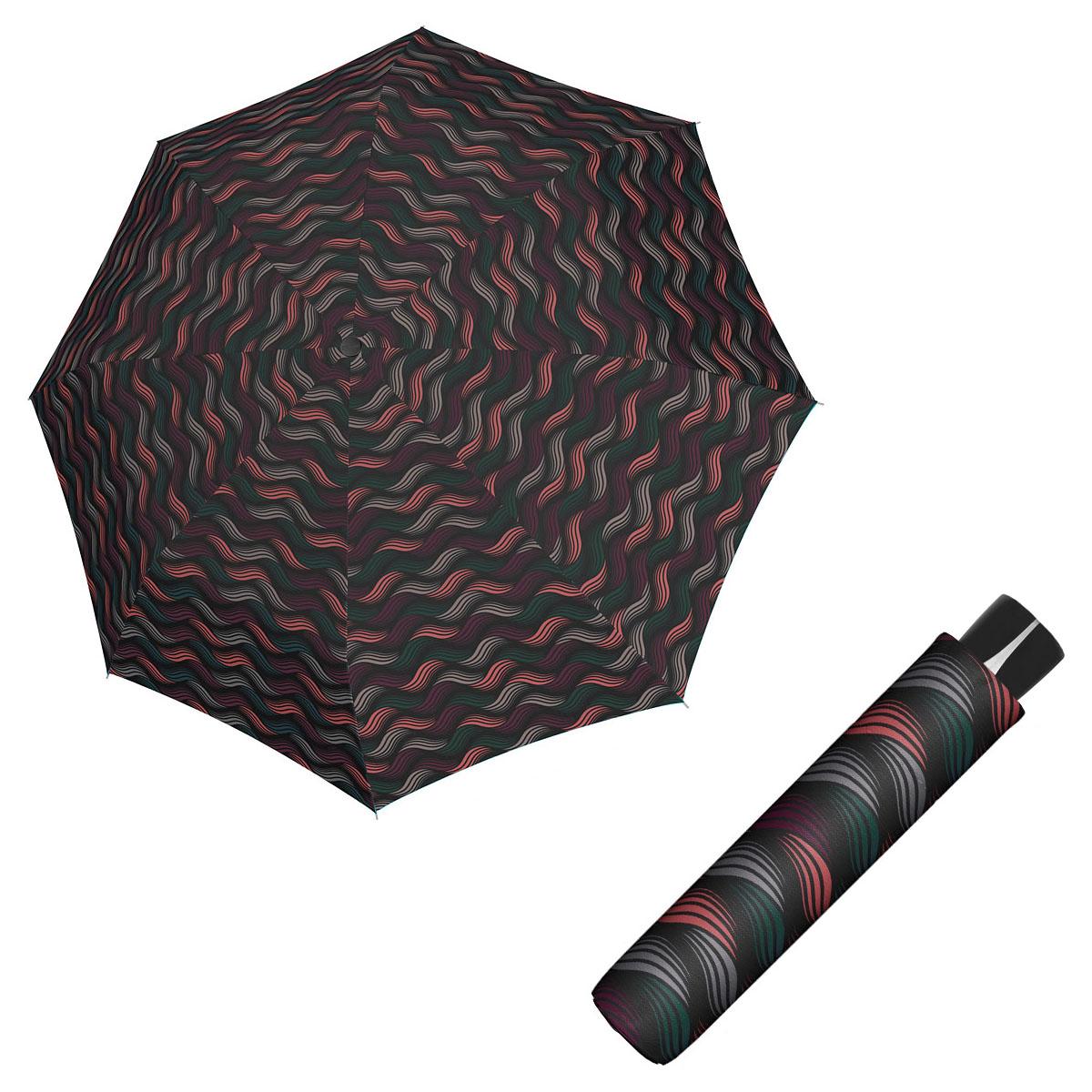 Doppler Mini Fiber GRAVITY - dámský skládací odlehčený deštník vínová