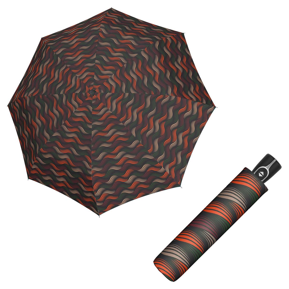 Doppler Magic Fiber GRAVITY - dámský skládací plně-automatický deštník oranžová