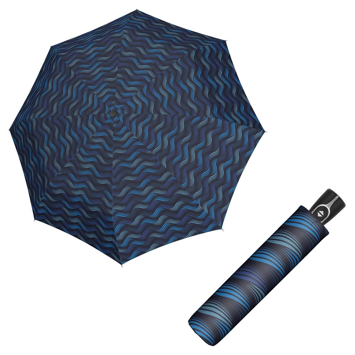 Doppler Magic Fiber GRAVITY - dámský skládací plně-automatický deštník modrá