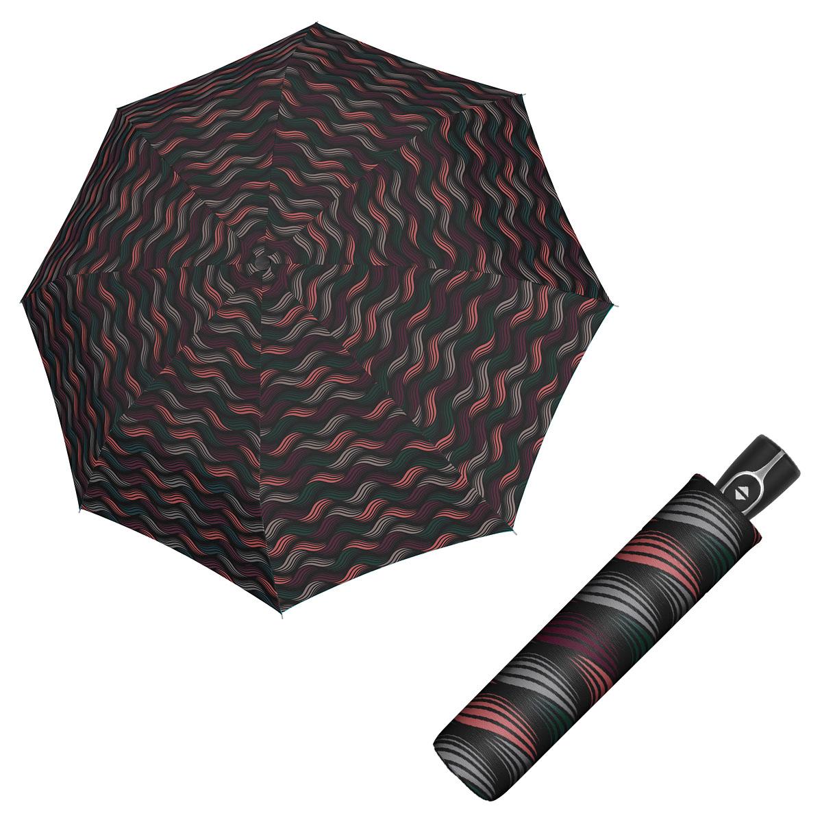 Doppler Magic Fiber GRAVITY - dámský skládací plně-automatický deštník vínová