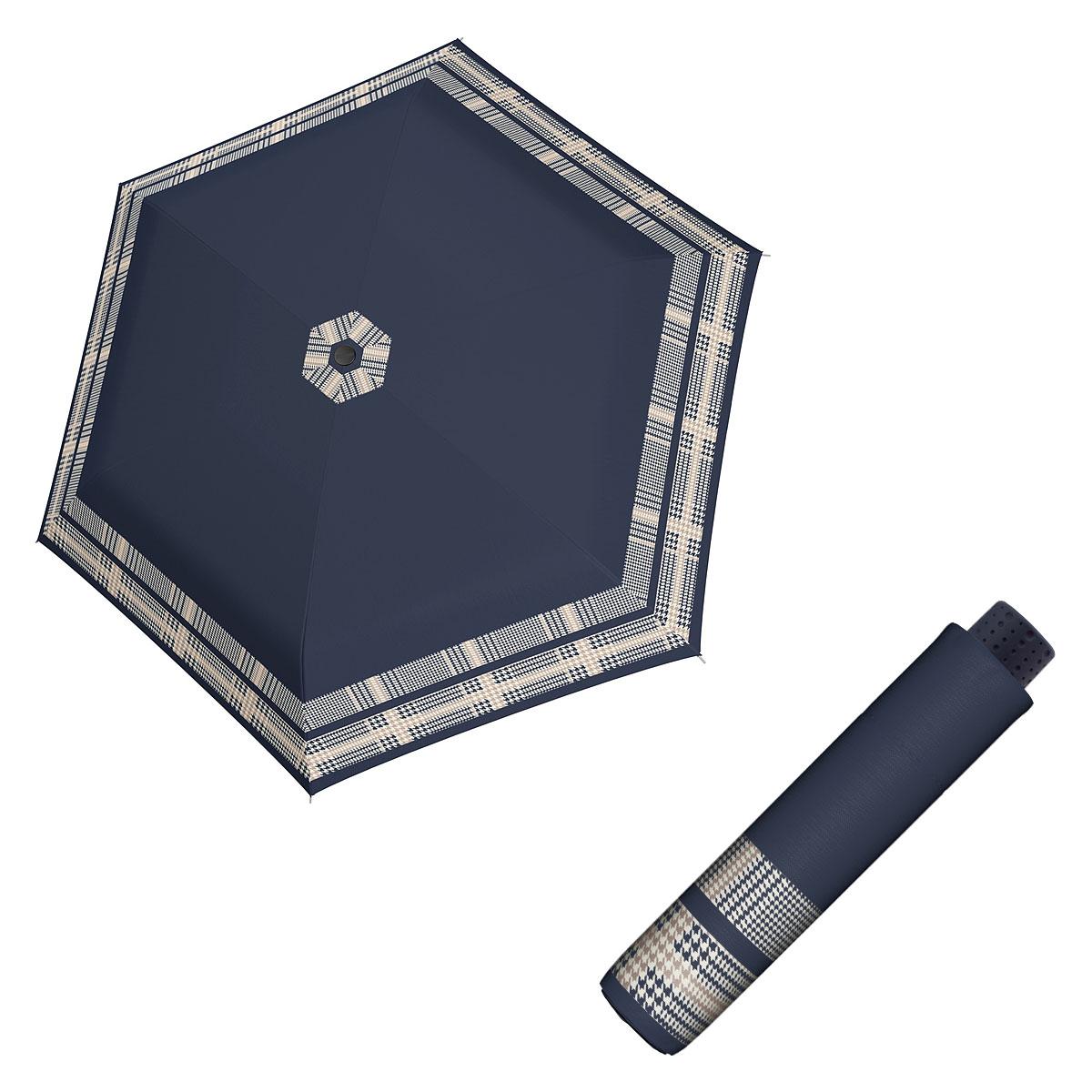 Doppler Havanna Fiber TIMELESS - dámský ultralehký mini deštník bordura