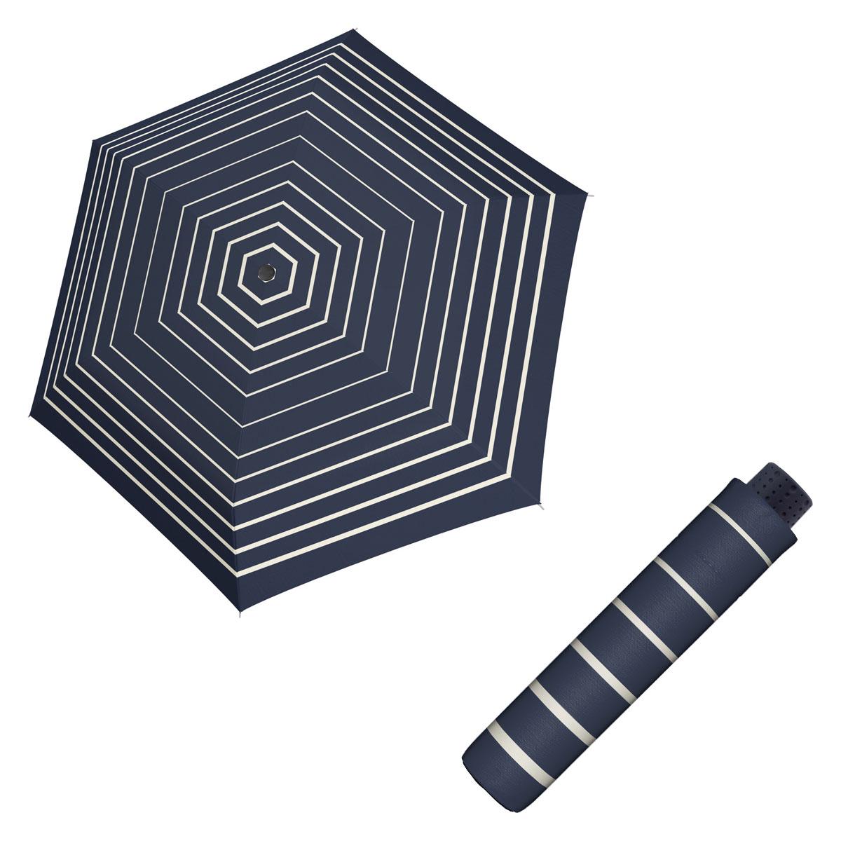 Doppler Havanna Fiber TIMELESS - dámský ultralehký mini deštník proužky