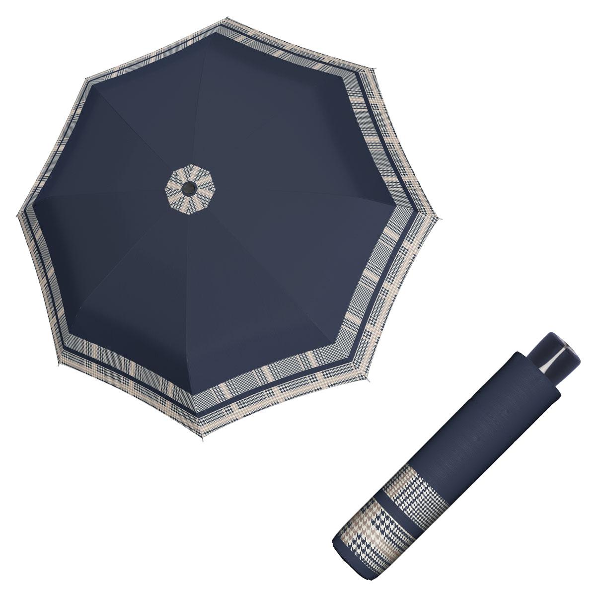 Doppler Mini Fiber TIMELESS - dámský skládací odlehčený deštník bordura